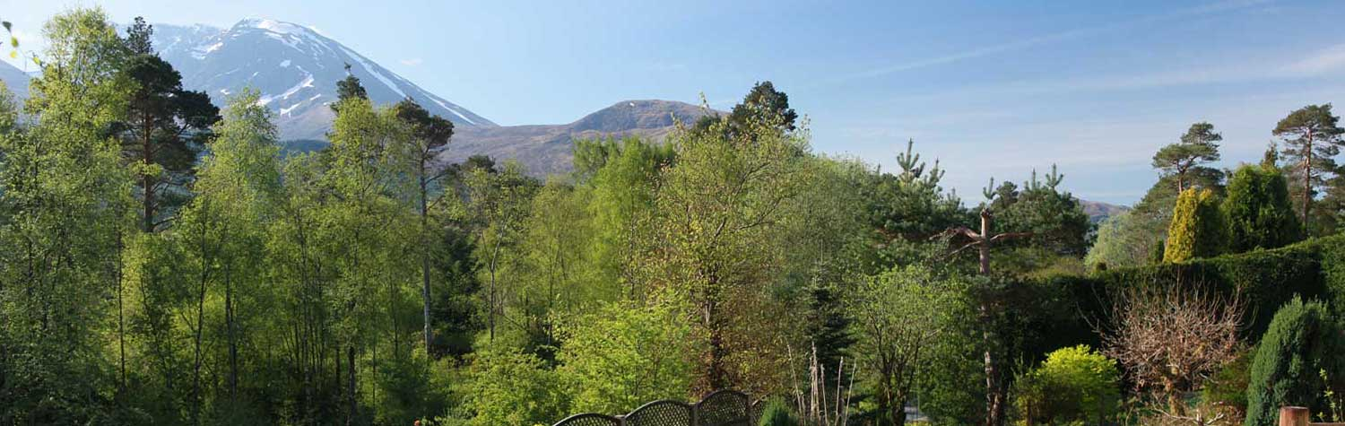 the view of Ben Nevis in the morning from our Fort William cottage