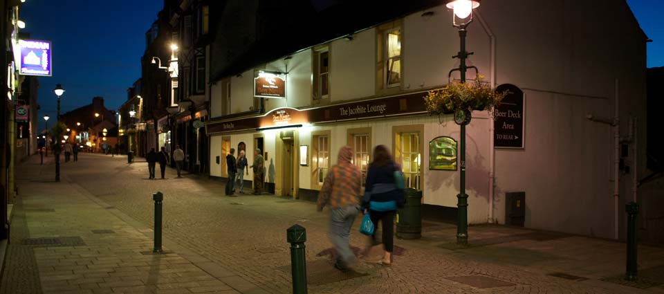 one of several good pubs in Fort William - 10 minutes away by taxi